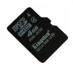 Карта памяти Kingston 4GB microSDHC Class 4 (SDC4/4GB)