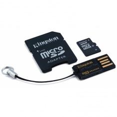 Карта памяти Kingston microSDHC 32GB Class 4 + SD adapter + USB reader (MBLY4G2/32GB)