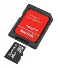 Карта памяти SanDisk microSDHC 32GB + SD Class 4 (SDSDQM-032G-B35A)