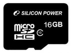 Карта памяти Silicon Power 16Gb microSDHC Class10 (SP016GBSTH010V10)