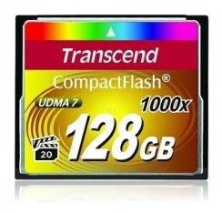 Карта памяти Transcend CF 128GB 1000x (TS128GCF1000)