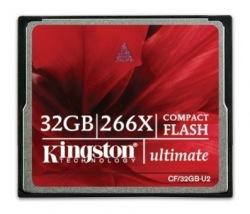 Карта памяти Kingston Compact Flash 32 Gb 266x (CF/32GB-U2)