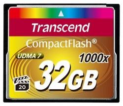 Карта памяти Transcend CF 32GB 1000X (TS32GCF1000)
