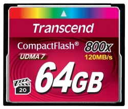Карта памяти Transcend CF 64Gb 800X (TS64GCF800)