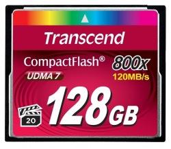 Карта памяти Transcend CF 128Gb 800X (TS128GCF800)