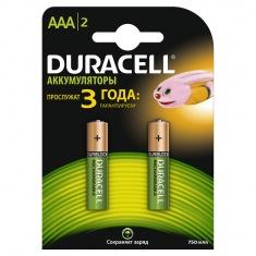 Батарейки DURACELL HR03 (AAA) 750mAh(2шт)