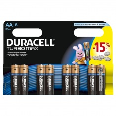 Батарейки DURACELL LR06 (АА)  MN1500 Turbo  бл.8 шт