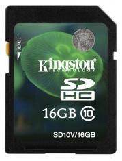 Карта памяти KINGSTON SDHC 16GB Class 10
