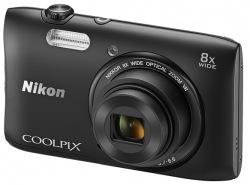 Фотоаппарат цифровой NIKON S3600 kit Black