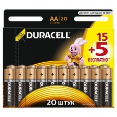 Батарейка DURACELL LR06 (AA) MN1500 (15+5 шт.) бл