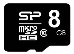 Карта памяти Silicon Power microSDHC 8Gb Class 10 (SP008GBSTH010V10)
