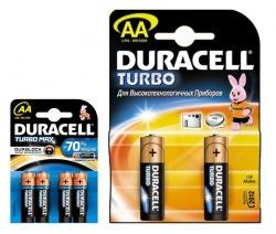 Батарейки DURACELL TURBO AA 4 шт + АА 2 шт бл. ПРОМО