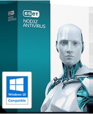 Антивирус ESET NOD32 Antivirus 9 2ПК/1год