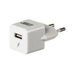 Сетевое зарядное устройство JUST Atom (1A/5W, 1USB) White