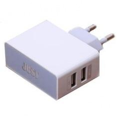 Сетевое зарядное устройство JUST Thunder Dual USB Wall Charger (2.1A/10W, 2USB) White (WCHRGR-THNDR-