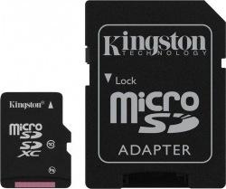 Карта памяти KINGSTON 128GB microSDXC Cl10+adapt