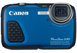 Фотоаппарат цифровой CANON PowerShot D30 Blue