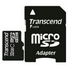 Карта памяти TRANSCEND microSDHC 32GB Cl 10 PrX300+adapter
