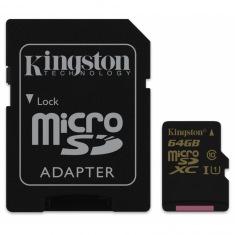 Карта памяти Kingston microSDXC 64Gb Class 10 UHS-I + SD адаптер (SDCA10/64Gb)