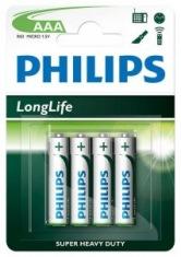 Батарейки PHILIPS LongLife R03-L4B ААА бл.4шт
