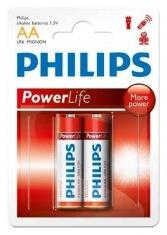 Батарейки PHILIPS PowerLife LR6-P2B АА бл.2 шт