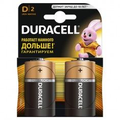 Батарейки DURACELL Basic LR20-2BL, 2 шт. D
