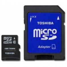 Карта памяти Toshiba microSDHC 16GB Class 4 + SD-adapter (SD-C16GJ(6A)