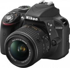 Фотокамера NIKON D3300Kit18-55VR AF-P+55-200VR II + сумка + карта SD 64GB