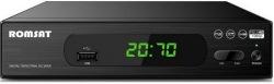 Цифровой эфирный приёмник  DVB-T2 Romsat T2070