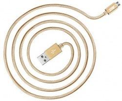 Кабель JUST Copper Micro USB 1,2m Gold