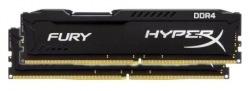 Память Kingston Fury Black 2x4Gb DDR4 2666Mhz (HX426C15FBK2/8)