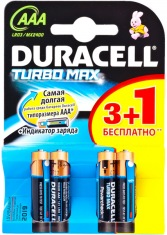 Батарейки DURACELL AAA MN2400 TURBO (3+1шт)