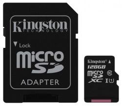 Карта памяти Kingston microSDXC 128GB Class 10 UHS