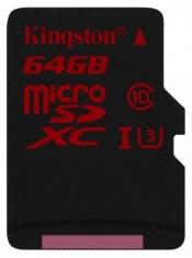 Карта памяти Kingston microSDHC 64GB Class 10 UHSI