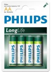 Батарейка PHILIPS LongLife R6-L4B АА бл.4 шт