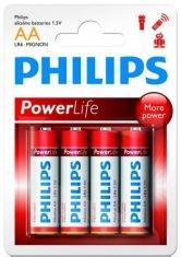 Батарейка PHILIPS PowerLife LR6-P4B АА бл.4 шт