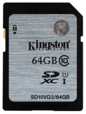 Карта памяти Kingston SDXC 64GB UHS-1 Class 10 Gen