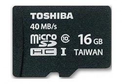 Карта памяти TOSHIBA microSDHC 16GB 10 Cl+adapter
