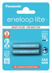 Аккумуляторы Panasonic Eneloop Lite AAA 550 2BP mAH NI-MH (BK-4LCCE/2BE)