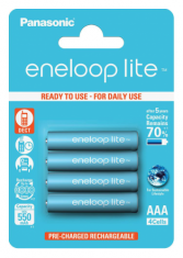Аккумуляторы Panasonic Eneloop Lite AAA 550 4BP mAH NI-MH (BK-4LCCE/4BE)