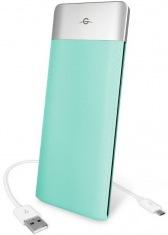 Универсальная мобильная батарея Power Bank 6000mAh aqua