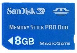 Карта памяти SONY MS Pro Duo SanDisk 8Gb Gaming