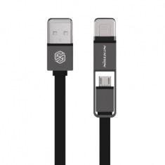 Кабель Nillkin USB - microUSB + Lightning Plus 1.2м Black (6274418)
