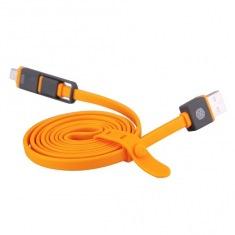 Кабель Nillkin USB - microUSB + Lightning Plus 1.2м Orange (6274421)