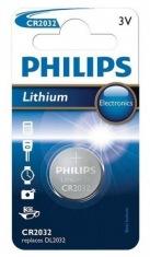 Батарейка Philips CR-2032 bat(3B) Lithium 1шт (CR2032/01B)