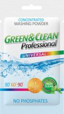СТИРАЛЬНЫЙ ПОРОШОК GREEN&CLEAN PROFESSIONAL УНИВЕРСАЛЬНЫЙ, САШЕТКА 100 Г