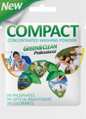 СТИРАЛЬНЫЙ ПОРОШОК GREEN&CLEAN PRO COMPACT УНИВЕРСАЛЬНЫЙ, САШЕТКА 50 Г