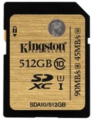 Карта памяти Kingston Digital SDXC 512GB Class 10