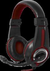Гарнитура Defender Warhead G-185 черный + красный, кабель 2 м