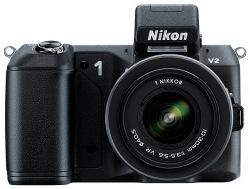 Цифровой фотоаппарат Nikon V2 Kit 10-30 Black